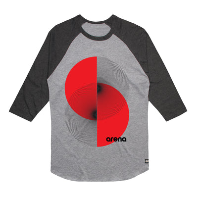 Arena Apex Heather Grey & Asphalt Heather Raglan Tee Shirt