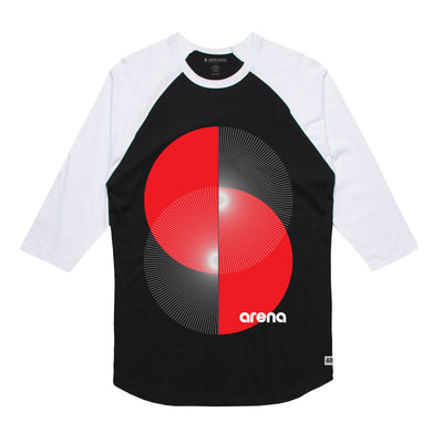 Arena Apex Black & White Raglan Tee Shirt