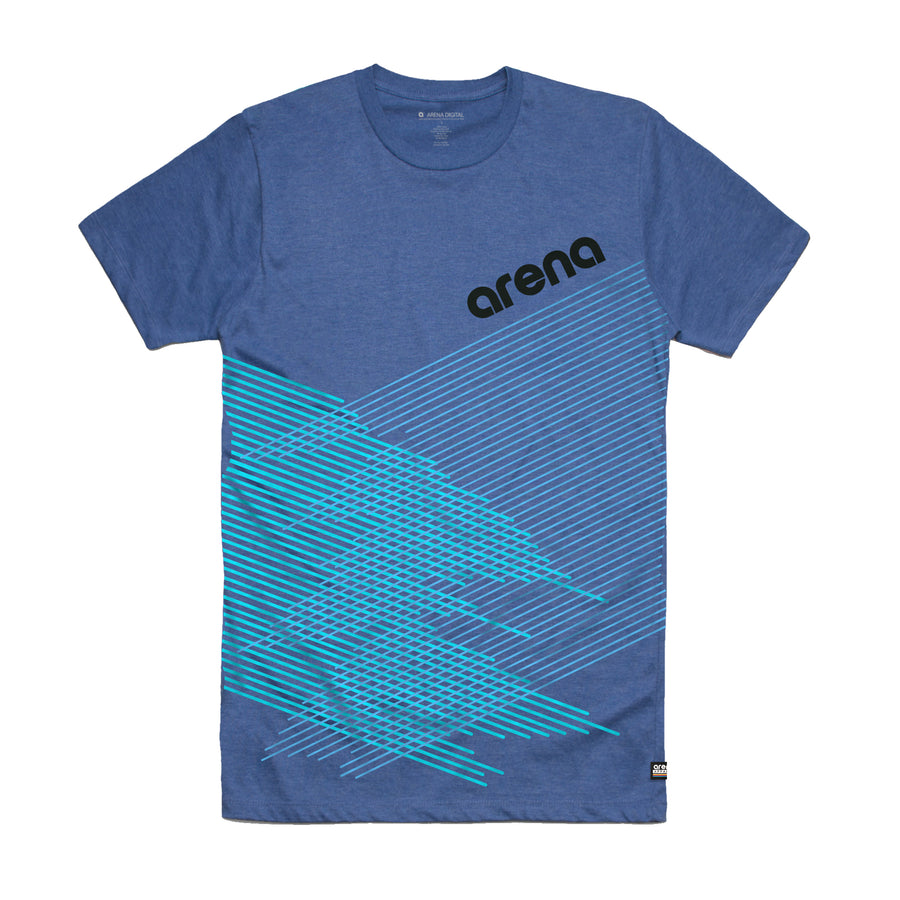Arena Music | Crossing Lines - Ocean Blue Unisex Tee Shirt