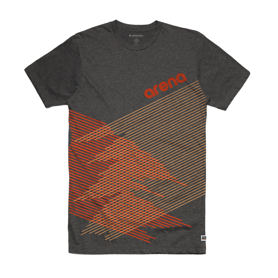 Arena Music | Crossing Lines - Asphalt Heather Unisex Tee Shirt