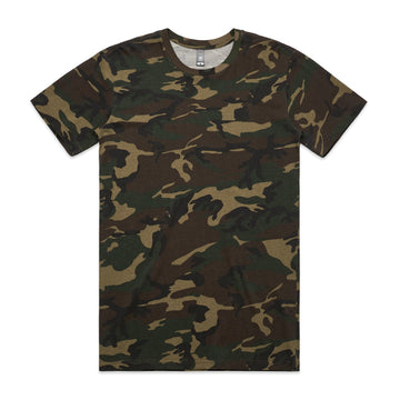 Men's Staple Camo Tee Shirt | Custom Blanks - Band Merch and On-Demand Designer Shirts
