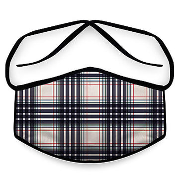 Black Plaid- Arena Tour Mask (Includes 1 PM2.5 Carbon Filter) Reversible Face Mask