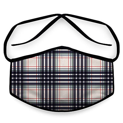 Black Plaid- Reusable Face Mask, Face Cover, Festival Cover | Arena
