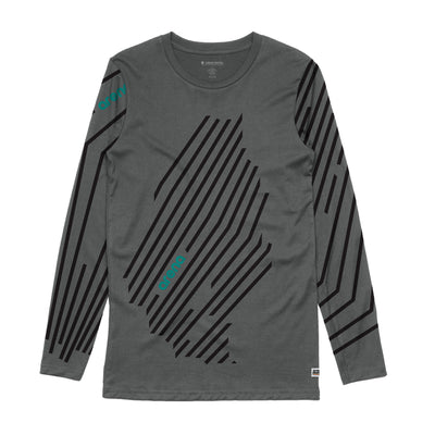 Arena Music | Cascadia - Charcoal Men's Long Sleeve Tee Shirt
