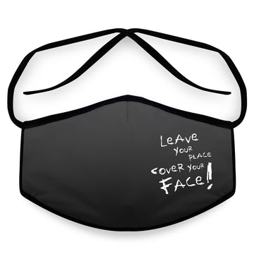 Cover Your Face- Arena Tour Mask (Includes 1 PM2.5 Carbon Filter) Reversible Face Mask