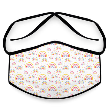 Rainbows- Arena Tour Mask (Includes 1 PM2.5 Carbon Filter) Reversible Face Mask