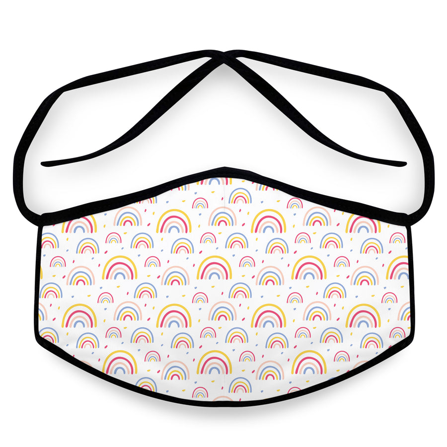 Rainbows - Reusable Cloth Face Mask, Face Cover, Festival Cover | Arena - Band Merch and On-Demand Designer Shirts