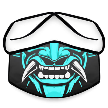 Blue Samurai- Arena Tour Mask (Includes 1 PM2.5 Carbon Filter) Reversible Face Mask