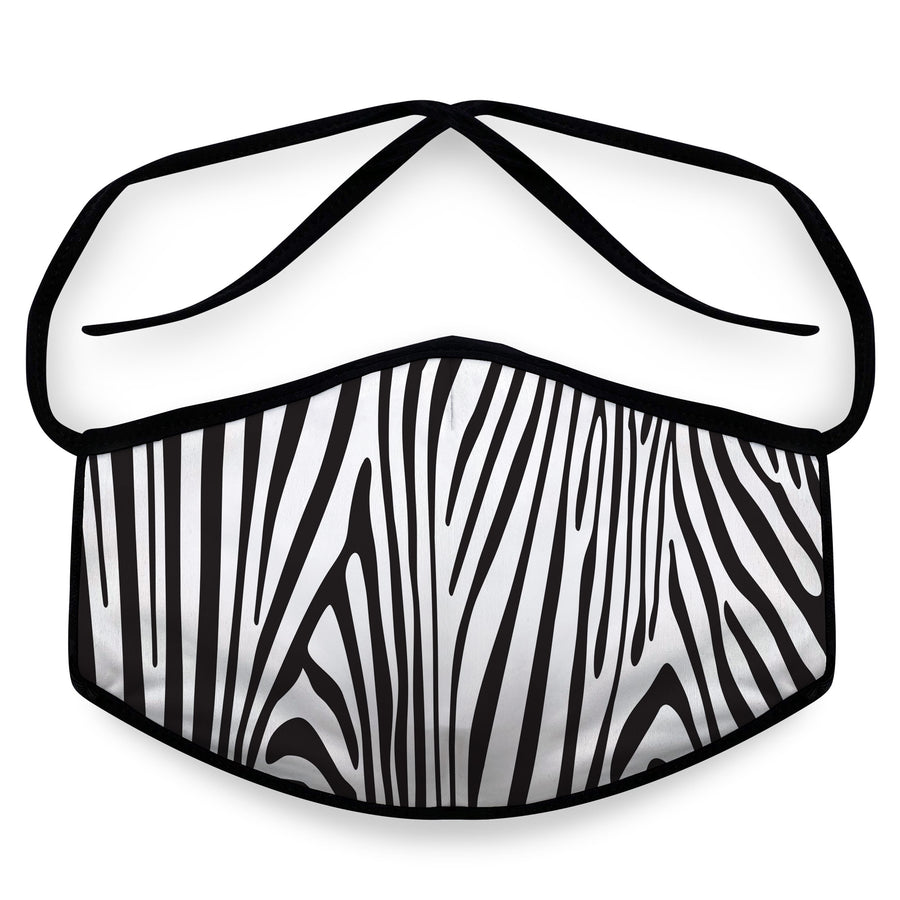 Zebra- Arena Tour Mask (Includes 1 PM2.5 Carbon Filter) Reversible Face Mask
