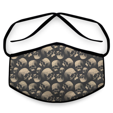 Old Skulls - Reusable Cloth Face Mask, Face Cover, Festival Cover | Arena - Band Merch and On-Demand Designer Shirts