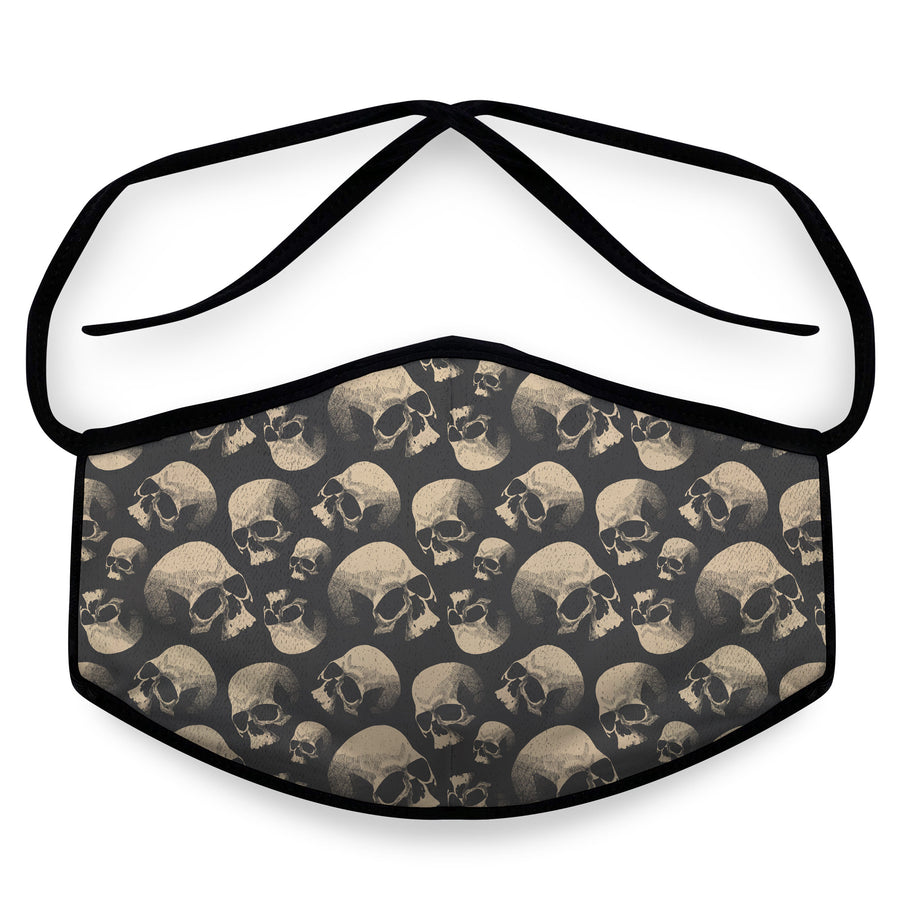 Old Skulls - Reusable Face Mask, Face Cover, Festival Cover | Arena