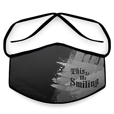 Me Smiling - Reusable Cloth Face Mask, Face Cover, Festival Cover | Arena - Band Merch and On-Demand Designer Shirts