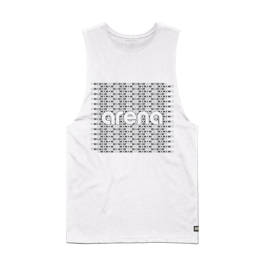 Arena Music | Circuit - White Men's Sleeveless Tee Shirt