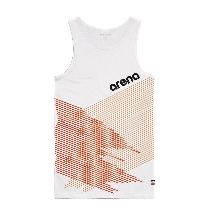 Arena Music | Crossing Lines - White Men's Tank Top
