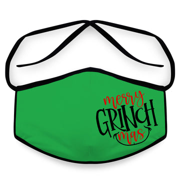 Merry Grinchmas - Unisex Cloth Reusable Face Mask, Face Cover, Festival Cover | Arena