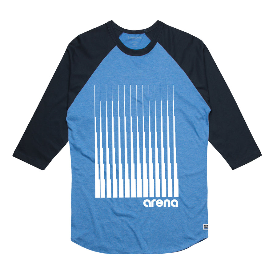 Arena Music | Denali - Blue and Navy Men's Raglan Tee Shirt