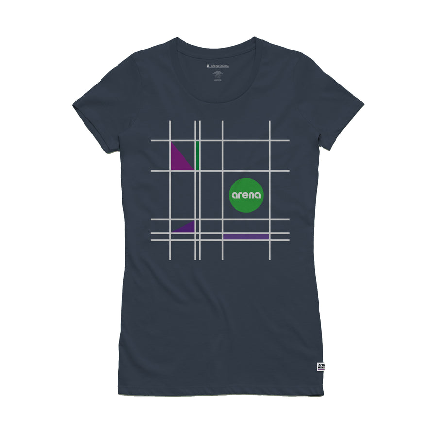 Mondrian - Women's Slim Fit Tee Shirt - Band Merch and On-Demand Designer Shirts