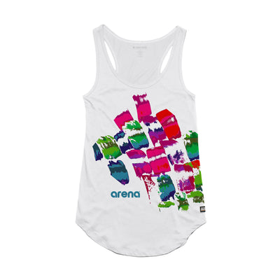 Arena Brush Strokes White Women's Tank Top