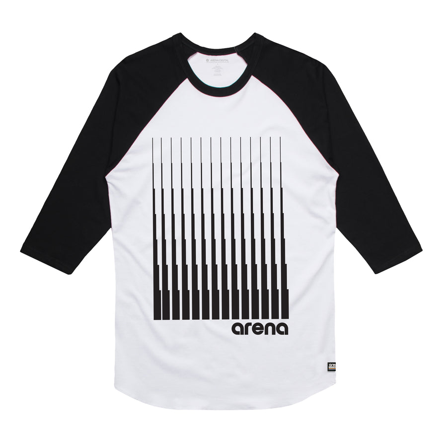Arena Music | Denali - White and Black Men's Raglan Tee Shirt