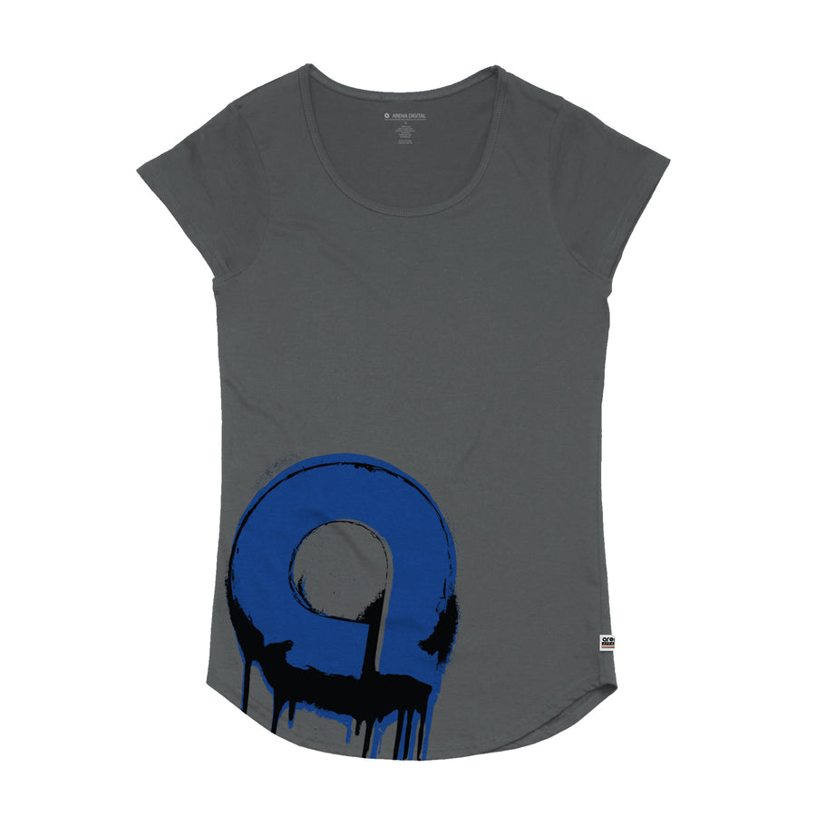 Arena Music | Spray Paint - Womens Curved Hem Tee Shirt