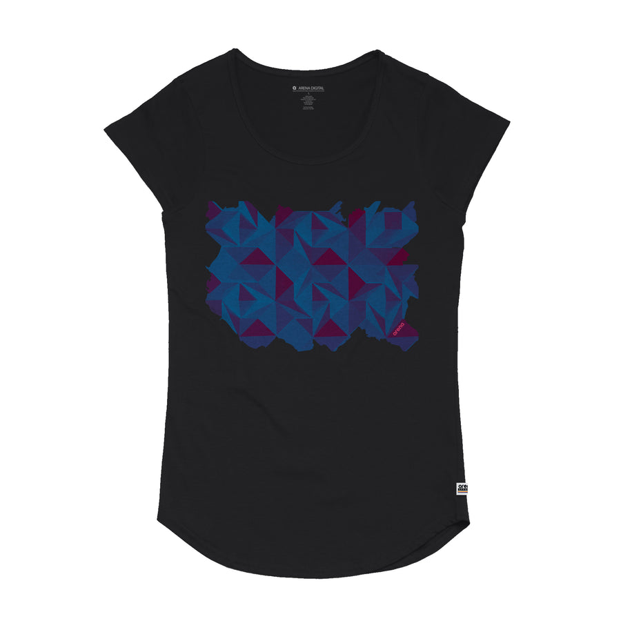 Quiet - Women's Curved Hem Tee Shirt - Band Merch and On-Demand Designer Shirts