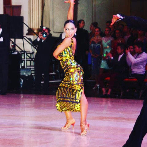 Flawless Crystals Ambassador Rosa Filippello at Blackpool Dance Festival.