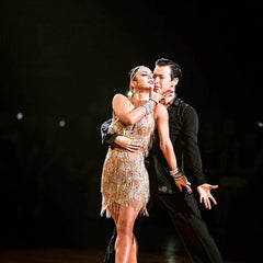 Flawless Crystals Australia Ambassadors Arkady and Rosa - Australian, NZ, Asia Pacific, British, All England, United Kingdom Champion. Ballroom Dance Academy Singapore