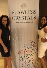 Karen Hardy and Rosa Filippello Flawless Crystals founder at the Singapore Dance Championships - Flawless Crystals provides high quality rhinestones
