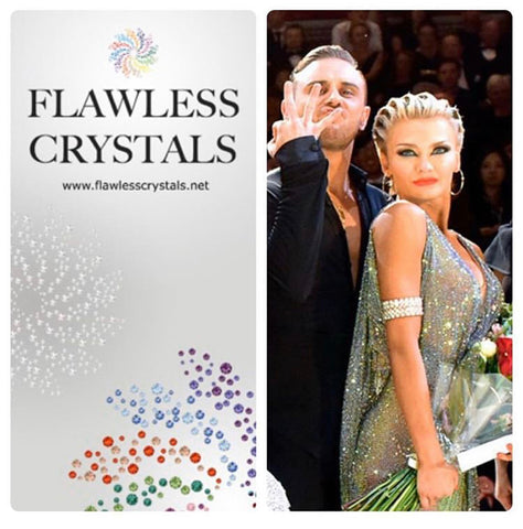 Ferdi & Yulia Flawless Crystals ambassadors wearing our crystal ab in ss20 and ss30