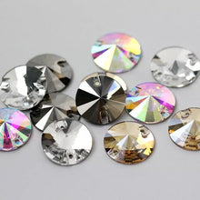 Load image into Gallery viewer, Rivoli Sew on Rhinestones - 3200 (10 pcs) - Flawless Crystals
