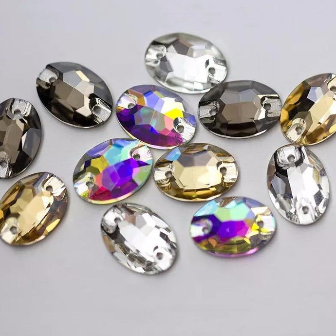 Oval Sew on Rhinestones - 3210 (10 pieces) - Flawless Crystals
