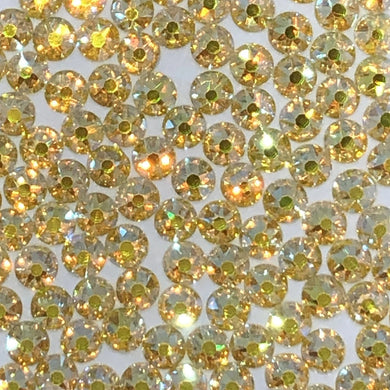 Citrine AB/Yellow rhinestones available in ss20 and ss16 at Flawless Crystals, high quality low price rhinestones based in Perth western Australia