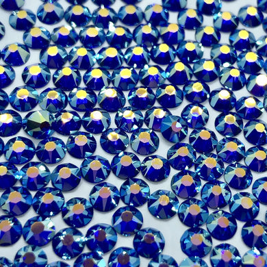 sapphire ab / blue ab sew on gems and rhinestones available in ss20 and ss16 at Flawless Crystals, high quality low price rhinestones based in Perth western Australia