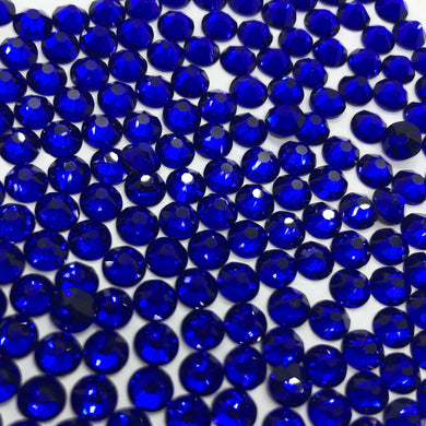 sapphire/royal blue sew on gems and rhinestones available in ss20 and ss16 at Flawless Crystals, high quality low price rhinestones based in Perth western Australia