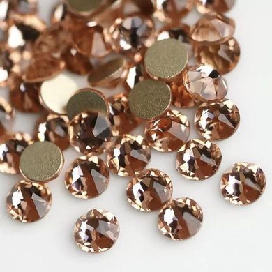 Light Peach Rhinestones - Flawless Crystals