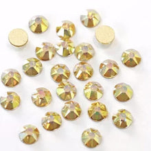 Load image into Gallery viewer, Citrine AB Rhinestones - Flawless Crystals