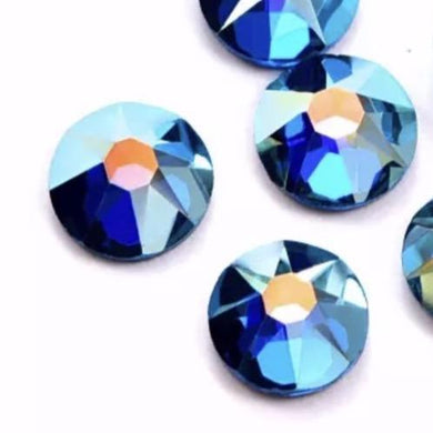 Indicolite AB / Peacock AB Rhinestones - Flawless Crystals