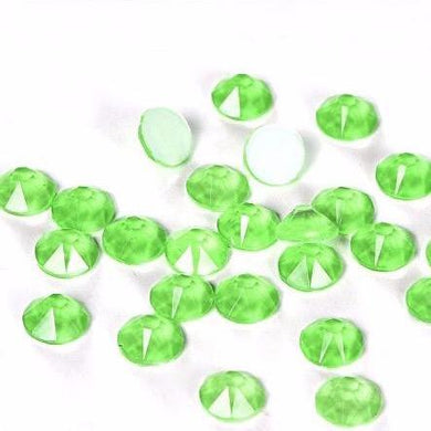 Neon Green Rhinestones - Flawless Crystals