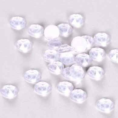 Neon White Rhinestones - Flawless Crystals