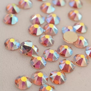 Light Peach AB Rhinestones - Flawless Crystals