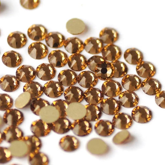 Light Colorado Topaz Rhinestones - Flawless Crystals