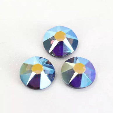 Tanzanite AB Rhinestones - Flawless Crystals