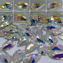 Load image into Gallery viewer, Pear Sew on Rhinestones - 3230 (10 pcs) - Flawless Crystals
