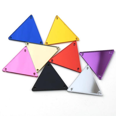 flawless crystals sew on triangle mirrors in a wide range of colours, best price guaranteed