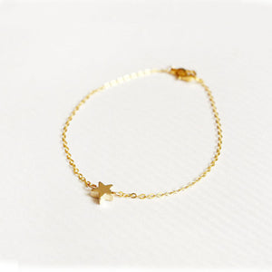 Lady Charming Elegant Gold  Star Shape  Chain Bracelet - wearevel