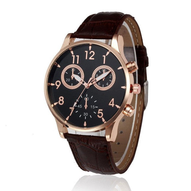 Luxury Leather Strap Watch - wearevel
