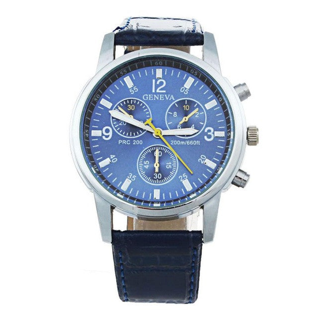 Business Style PU Leahter Wristwatch - wearevel