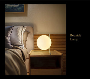 Modern LED Table Lamp Desk Lamp Light Shade Glass Ball Table Lamp Desk Light for Bedroom Living Room Floor Bedside Gold Designs - wearevel