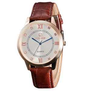 Leather Band  Analog  Wrist Watch - wearevel