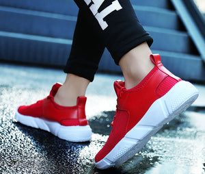 Men's Straps Sports Running Casual Sneakers Solid Shoes - wearevel